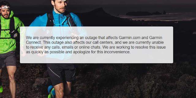Garmin suspende serviços devido a falha