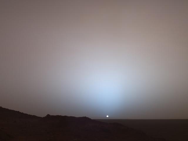 Pôr do sol de Marte