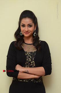 Telugu Actress Manasa Manohar Stills in Black Long Dress at Naku Nene Thopu Turumu Trailer Launch  0061.JPG