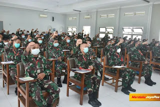 Bekali Latihan Asintel Panglima TNI Arahkan Prajurit MTF Garuda XXVIII-M Unifil Lebanon