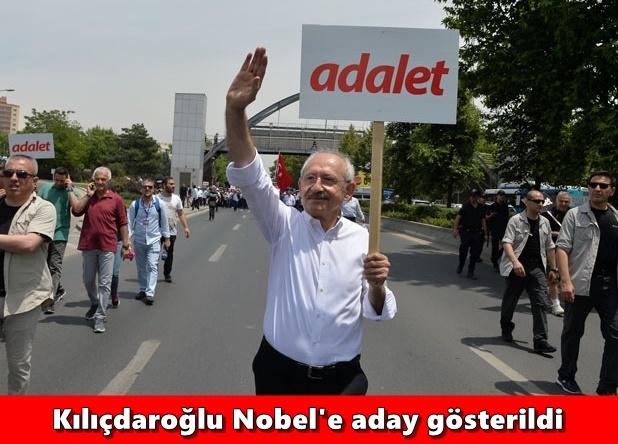 Kılıçdaroğlu Nobel'e aday gösterildi,adana haberleri,adana haber,adana manset,manşet adana