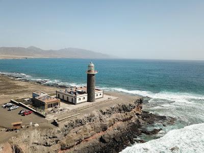 Hermoso faro de Jandia  en Fuerteventura en Canarias