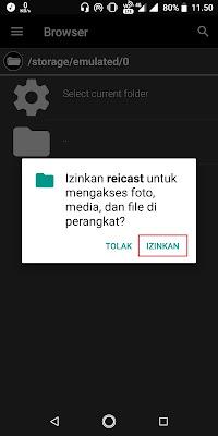 Bila muncul peringatan perizinan, Sobat klik Izinkan.
