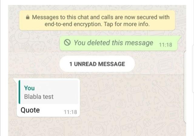 WhatsApp Delete Feature Failed- newsajk.xyz