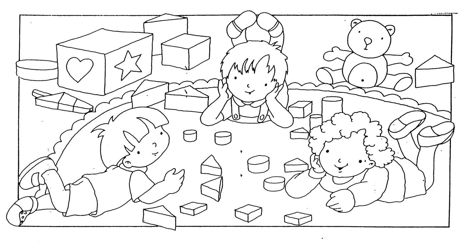 Pinto Dibujos Imagenes De Niños Felices Leyendo Para: Dibujos Dia Del Niño Para Pintar, Parte 2