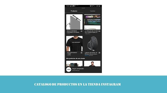 catalogo de productos tienda instagram