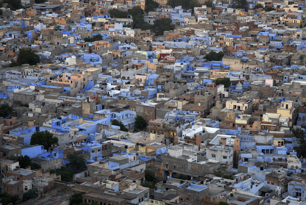 Glimpse of the blue city of Jodhpur, India is portrayed by the photographer in a new blog post online.