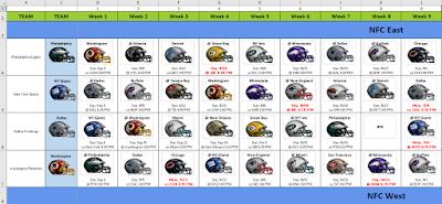 2019 nfl helmet schedule spreadsheet in excel football