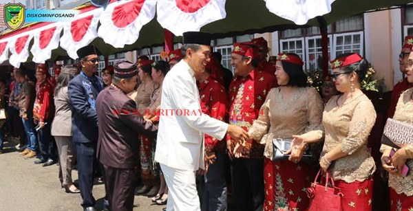 Bupati dan Wakil Bupati Barito Utara Hadiri Hari Jadi Ke-17 Kabupaten Barito Timur