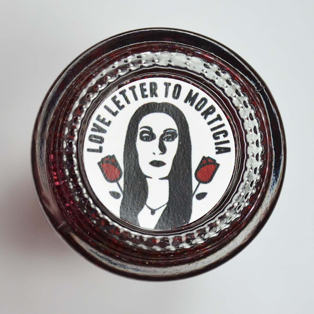 nail polish label with Morticia