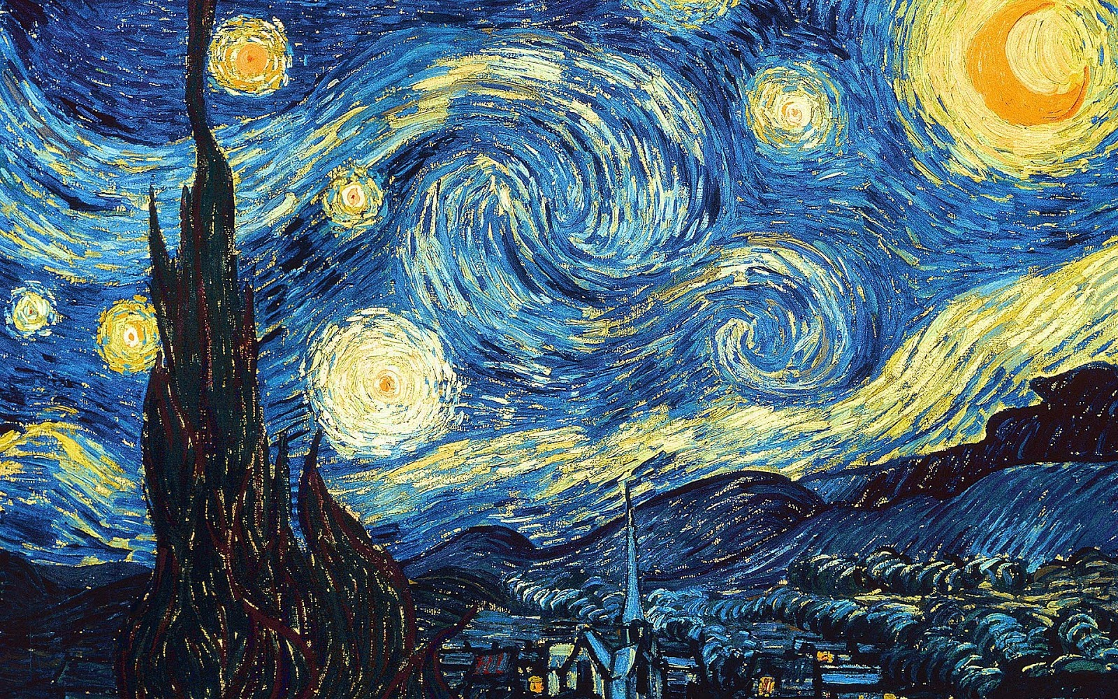 5 Amazing Artists Who Suffered from Schizophrenia and Their Works - Starry Sky by Vincent van Gogh