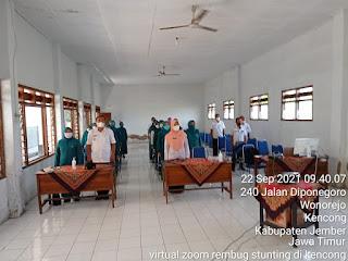 Camat Kencong Ikuti Rembuk Stunting Tingkat Kabupaten Secara Virtual