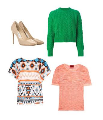 Туфли, свитер и топы