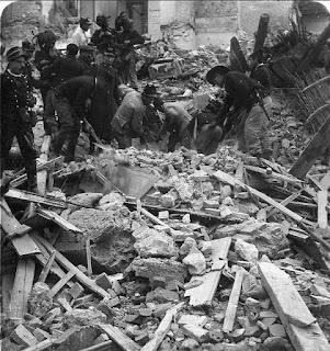Las labores de rescate tras el gran terremoto de Mesina de 1908