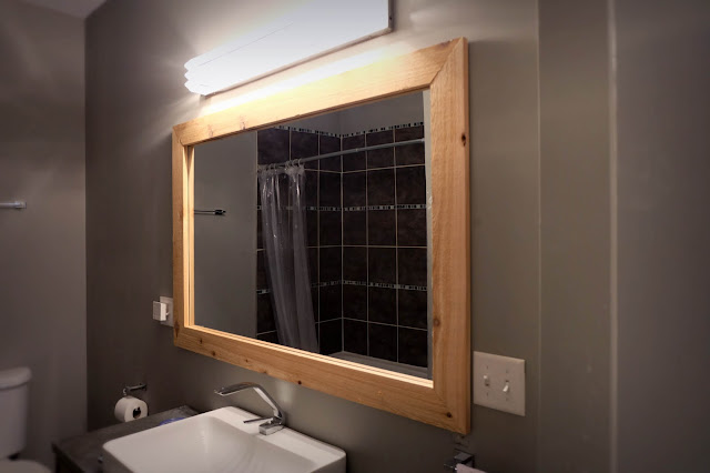 cedar frame bathroom wall mirror clip keyhole float