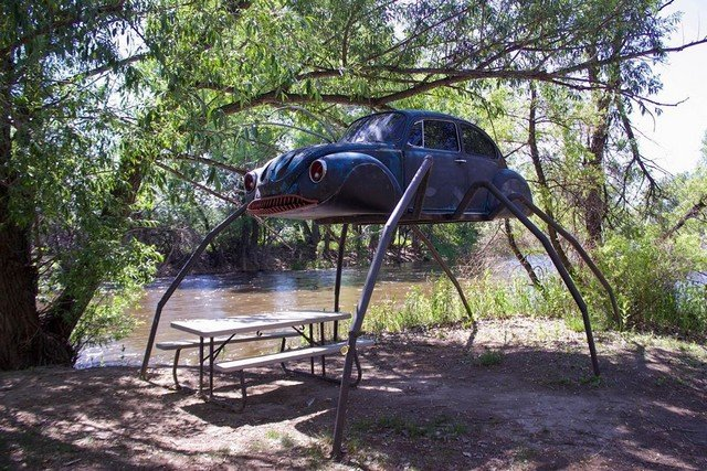 Colorado (Fort Collins): Swetsville Zoo - all its inhabitants are old cars