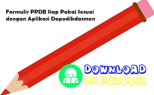 Formulir PPDB Siap Pakai Dapodikdasmen