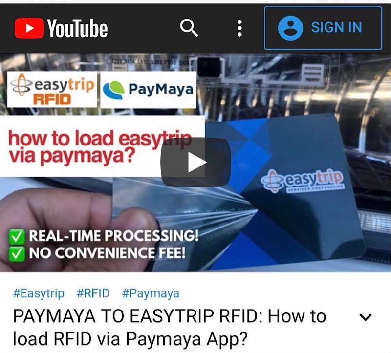 PAYMAYA TO RFID RELOADING