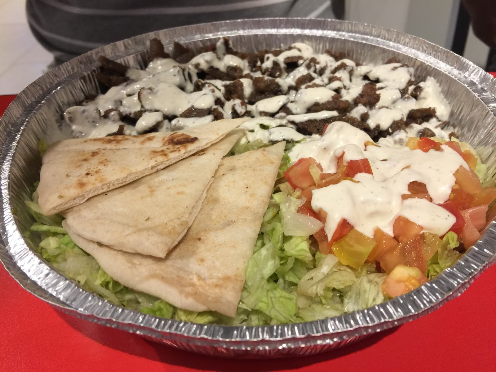 The Halal Guys - small Gyro combo platter (PHP229)