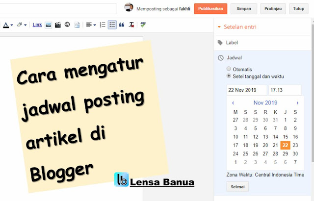 cara membuat jadwal post artikel otomatis