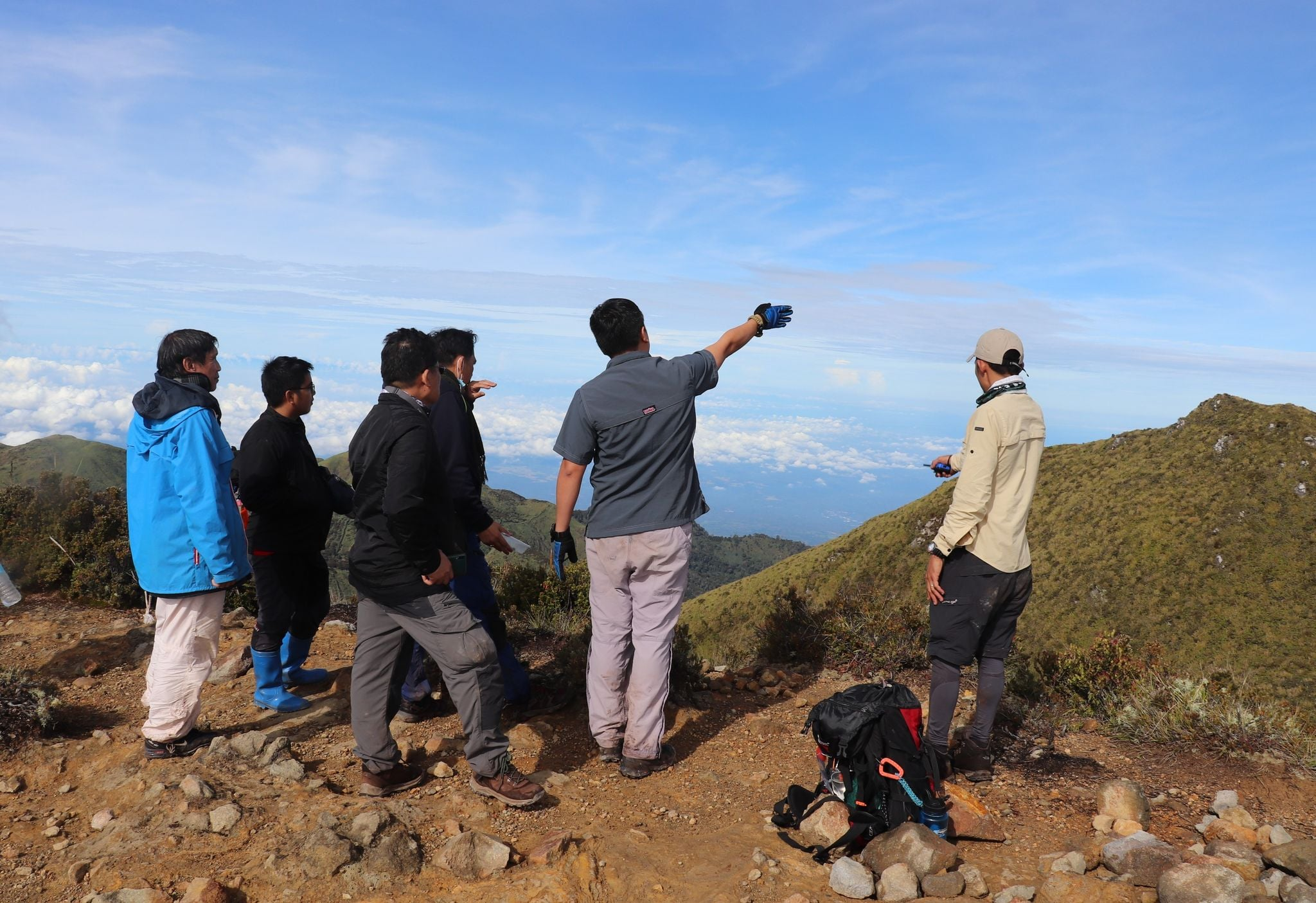 DENR inspecting Mt. Apo campsites and trails