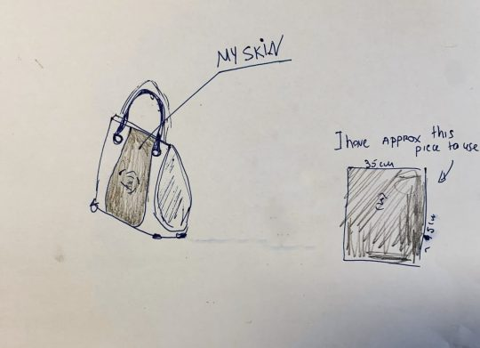 A woman on the verge of amputating her leg decided to use her skin to make a handbag.