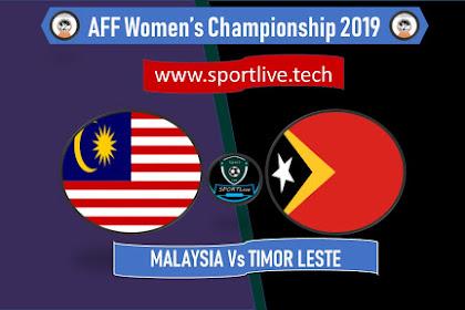 Live Streaming Malaysia Vs Timor Leste AFF Women's Championship 2019