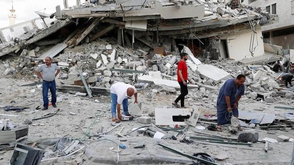 Israel Terus Gempur Gaza, Korban Jiwa Warga Palestina Bertambah Jadi 217