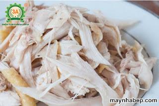 gỏi gà thân cây chuối