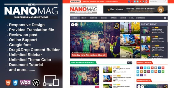 NanoMag Responsive WordPress Magazine- WordPress Themes