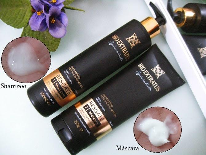 Shampoo e Máscara Repositor de Massa Bio Extratus