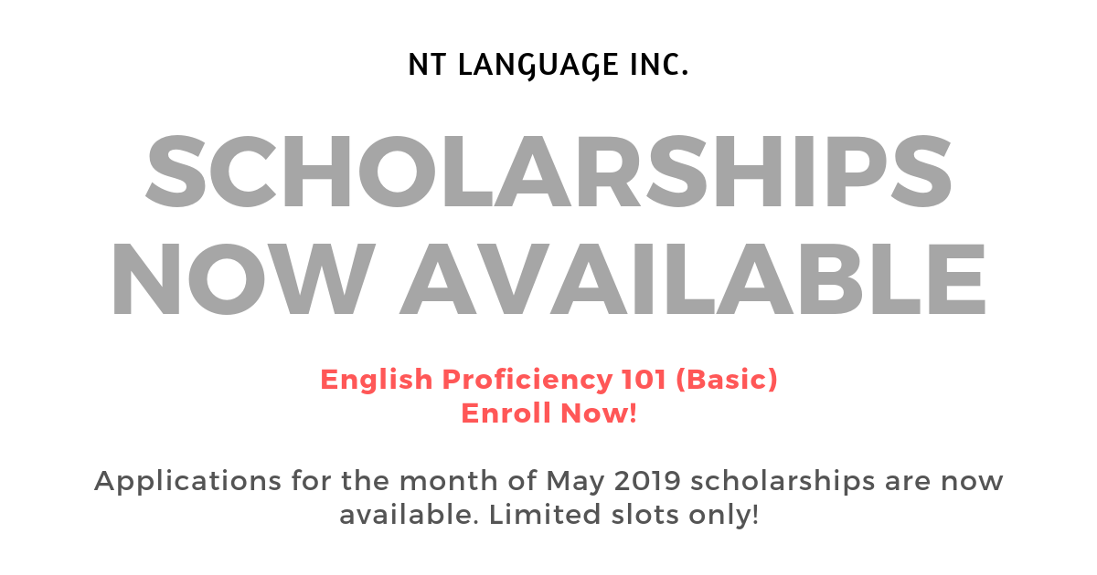 English Proficiency 101 (2019 SCHOLARSHIPS NOW AVAILABLE)