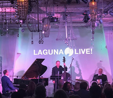 Peter Erskine (on drums) and jazz Trio at Laguna Beach Live (Source: Palmia Observatory)