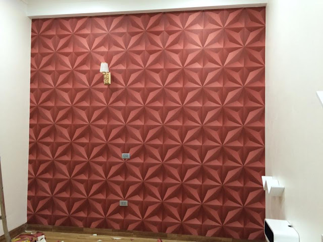 Chất liệu chủ yếu của giấy dán tường 3D là vải không dệt