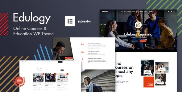 Edulogy - E-learning and Courses Theme Free Download, Nulled