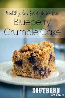 Healthy Blueberry Crumble Cake Recipe Gluten Free