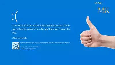 مشكلة الشاشة الزرقاء في الويندوز أسبابها وطريقة حلها