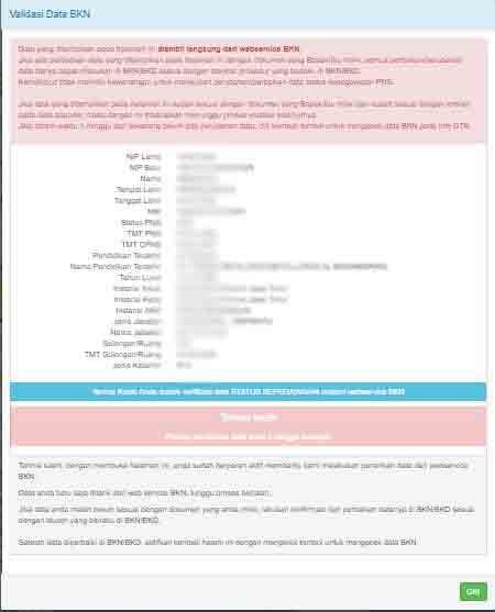 Cek Validasi Data Jabatan BKN di Info GTK