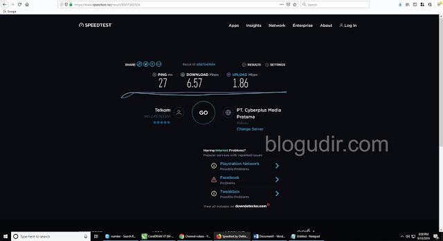 Cara Cek Kecepatan Internet Secara Akurat Melalui PC (Laptop) Terbaru