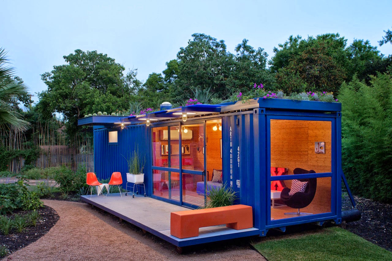 Blue Container Evening Room