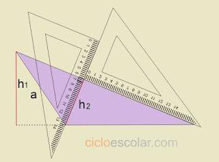 Ejemplo de como se obtiene altura de un triangulo escaleno h2