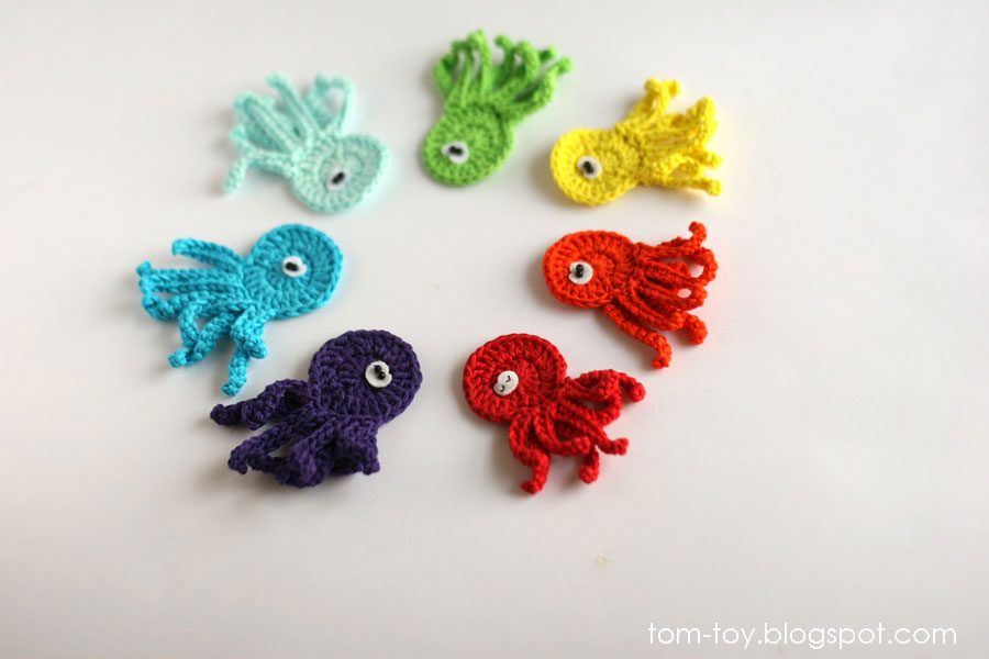 crochet rainbow octopus