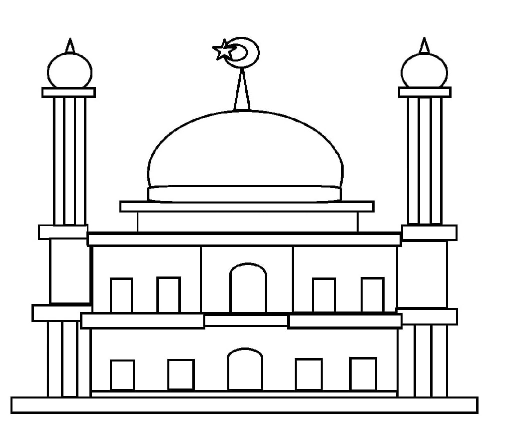 Kumpulan Gambar Mewarnai Masjid Untuk Anak Paud Dan Tk Islami Anak Sd Islami