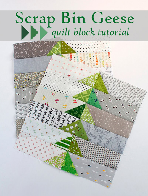 Scrap Bin Geese Quilt Block Tutorial