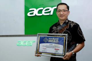 acer mendapatkan top brand award