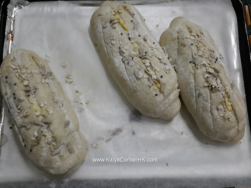 French Bread with Seeds and Dried Fruit 瓜子紅莓燕麥法包 自家烘焙 食譜 home baking recipes