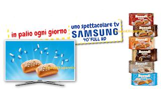 Logo Con Buondì vinci ogni giorno un TV Samsung 40'' Full HD
