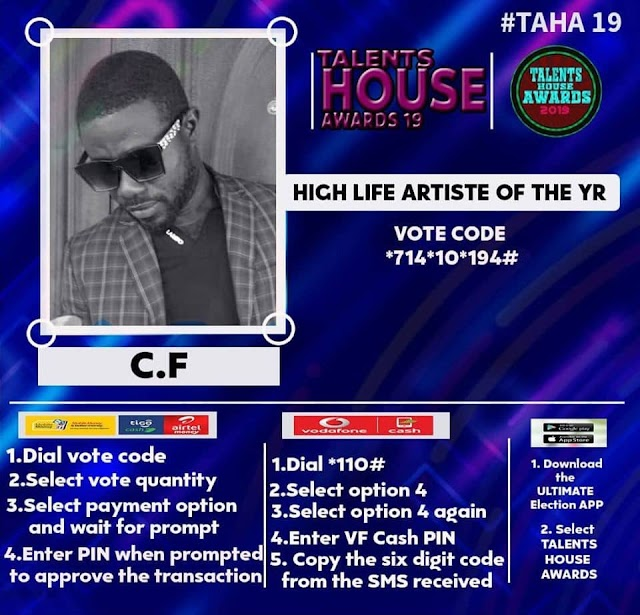 CF has been nominated for Highlife artist of the year