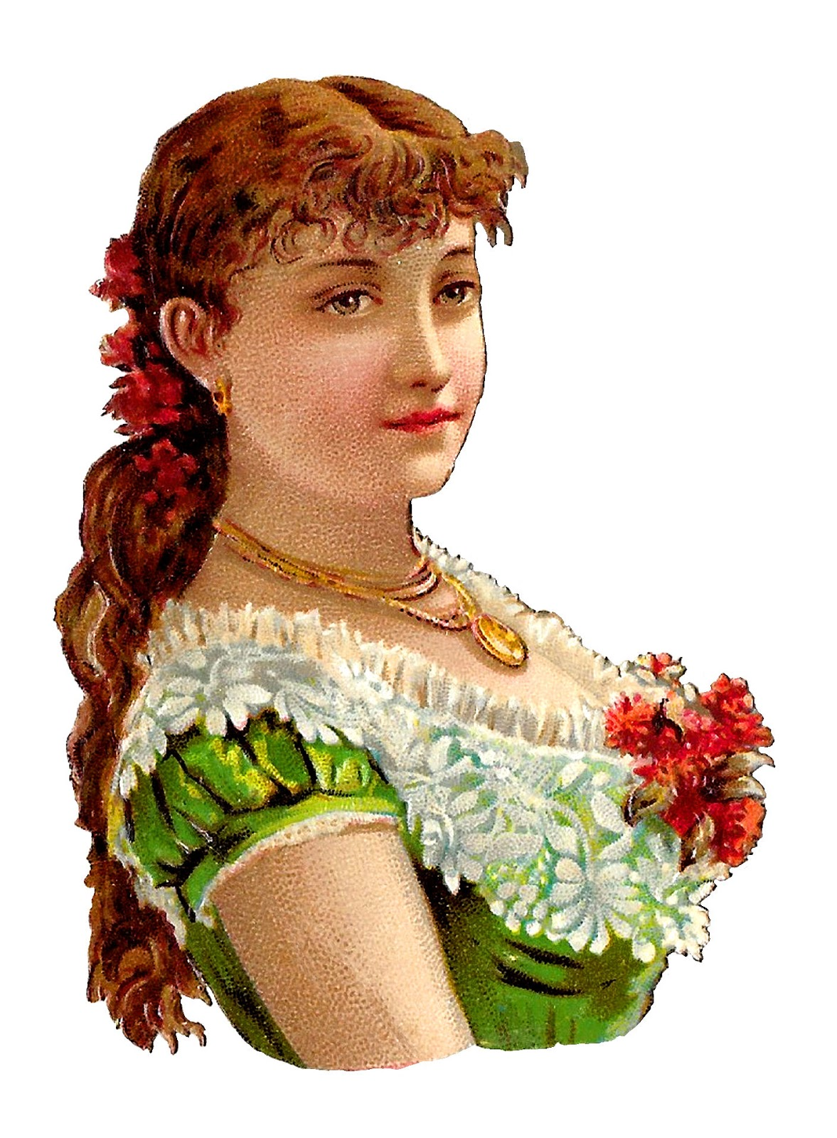 Woman Victorian Ilration Fashion Image Clipart Digital