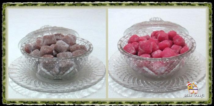 Bala de morangos 1